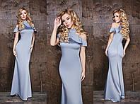 Длинное платье с воланами (4 цвета), фото 1