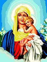 """Схема для вышивки крестом на канве Аида №16 """"Матерь Божья Трижды Прекрасная"""""""