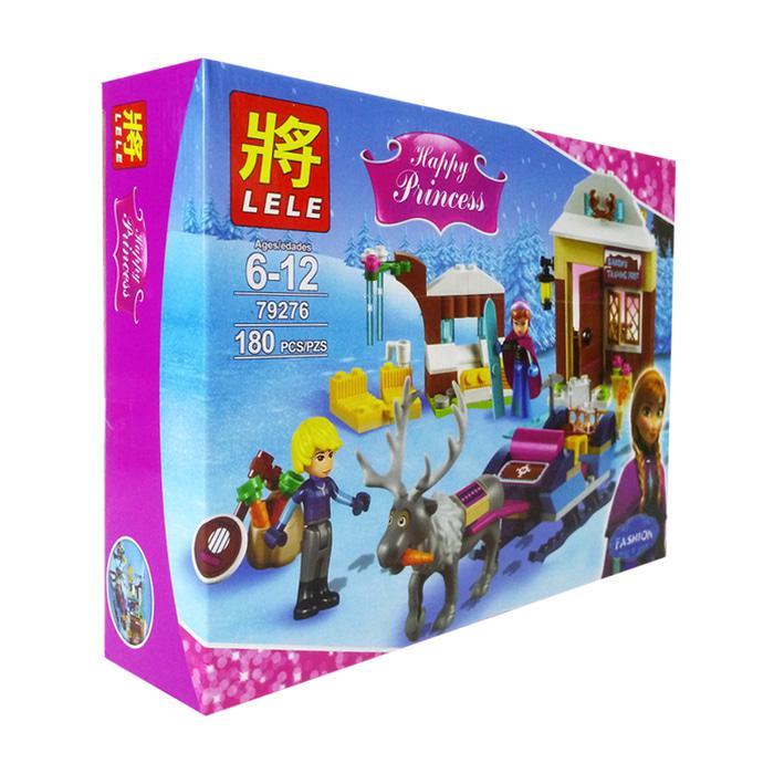 """Конструктор Disney Princess Lele 79276 (реплика Lego 41066) """"Анна и Кристоф: прогулка на санях"""", 180 дет"""