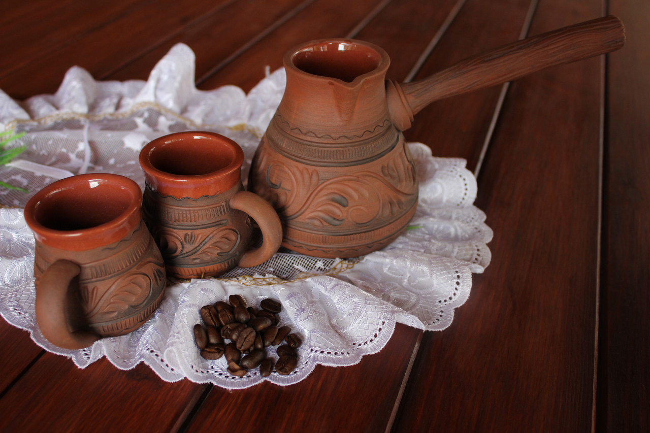 Набор для кави турка і два горнятка