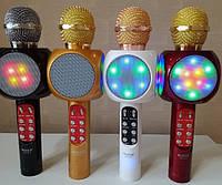 Беспроводной караоке микрофон со встроенной колонкой
