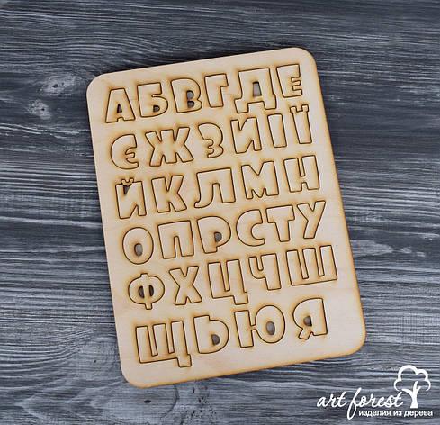 Деревянный алфавит вкладыш (пазл)  украинский, фото 2