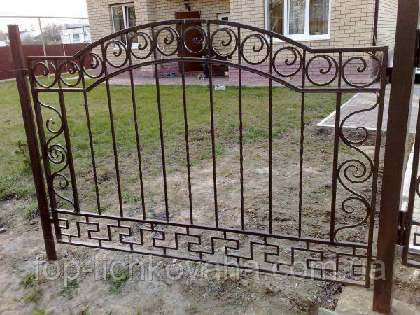 Кованый забор из металлопрофиля