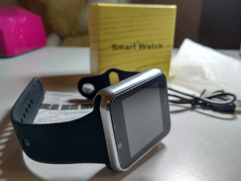 Наручные электронные умные часы-телефон Smart Watch A1 (Смарт Часы) SI