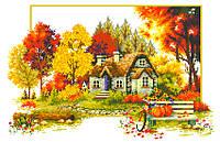 """Схема для вышивки крестом на канве Аида №16 """"Осенняя история"""""""