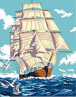 """Схема для вишивки хрестиком на канві Aida №16 """"Попутний вітер"""""""