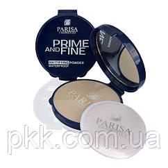 Пудра компактная Parisa Cosmetics Pime and Fine PP-03 01 Светлый бежевый