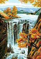 """Схема для вышивки крестом на канве Аида №16 """"Водопад"""""""