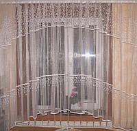 Тюль арка с вышивкой на микросетке