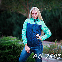 Женская куртка ветровка утепленная на флисе  42 44 46 Женские куртки плащевки оптом розница 7 км