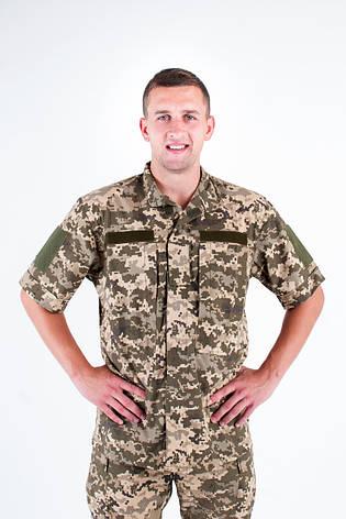 Рубашка Военно-полевая ЗСУ пиксель из Рубашечной ткани, фото 2