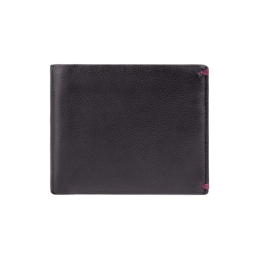 Стильный кошелек из мягкой кожи Visconti AP62 Black/Burgundy (Великобритания)