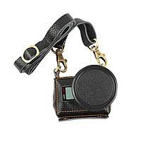 Кожаный футляр - чехол Shoot для камер GoPro Hero 5, Hero 6, Hero 7 (код XTGP391) - черный