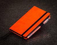Блокнот оранжевый с черными листами Стандарт ( Ежедневник черные страницы )