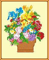 """Схема для вышивки крестом на канве Аида №13 """"Цветы"""""""