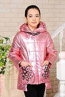Супер стильная  куртка для девочек из плащёвки лакэ Миранда