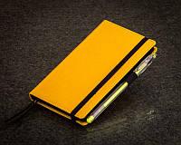 Блокнот желтый с черными страницами Мини ( Ежедневник черная бумага )