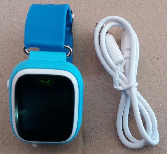 Детские Smart Watch (смарт часы) GPS трекер, SIM Сard, голубой
