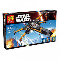 Конструктор Lele 79209 (аналог LEGO Star Wars 75102) X-Wing истребитель Поу, 735 деталей, фото 1