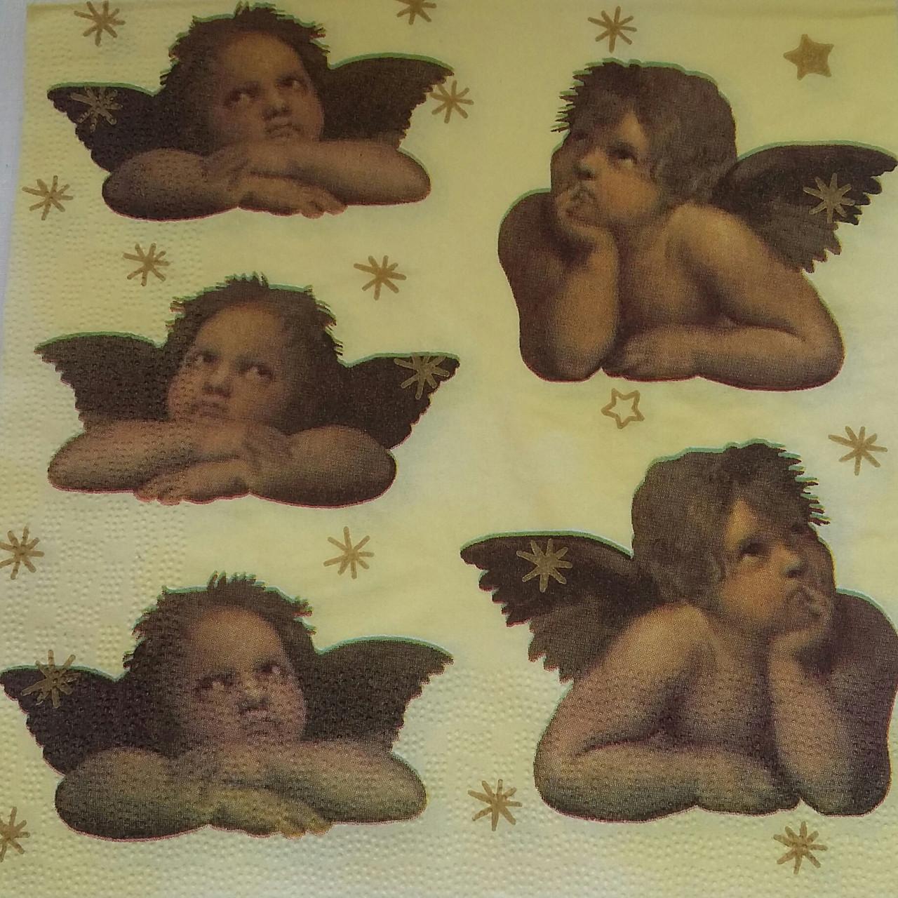 """Салфетка для декупажа """"Ангелы"""", 33х33 см, 8"""