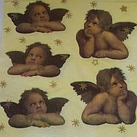 """Салфетка для декупажа """"Ангелы"""", 33х33 см, 8, фото 1"""