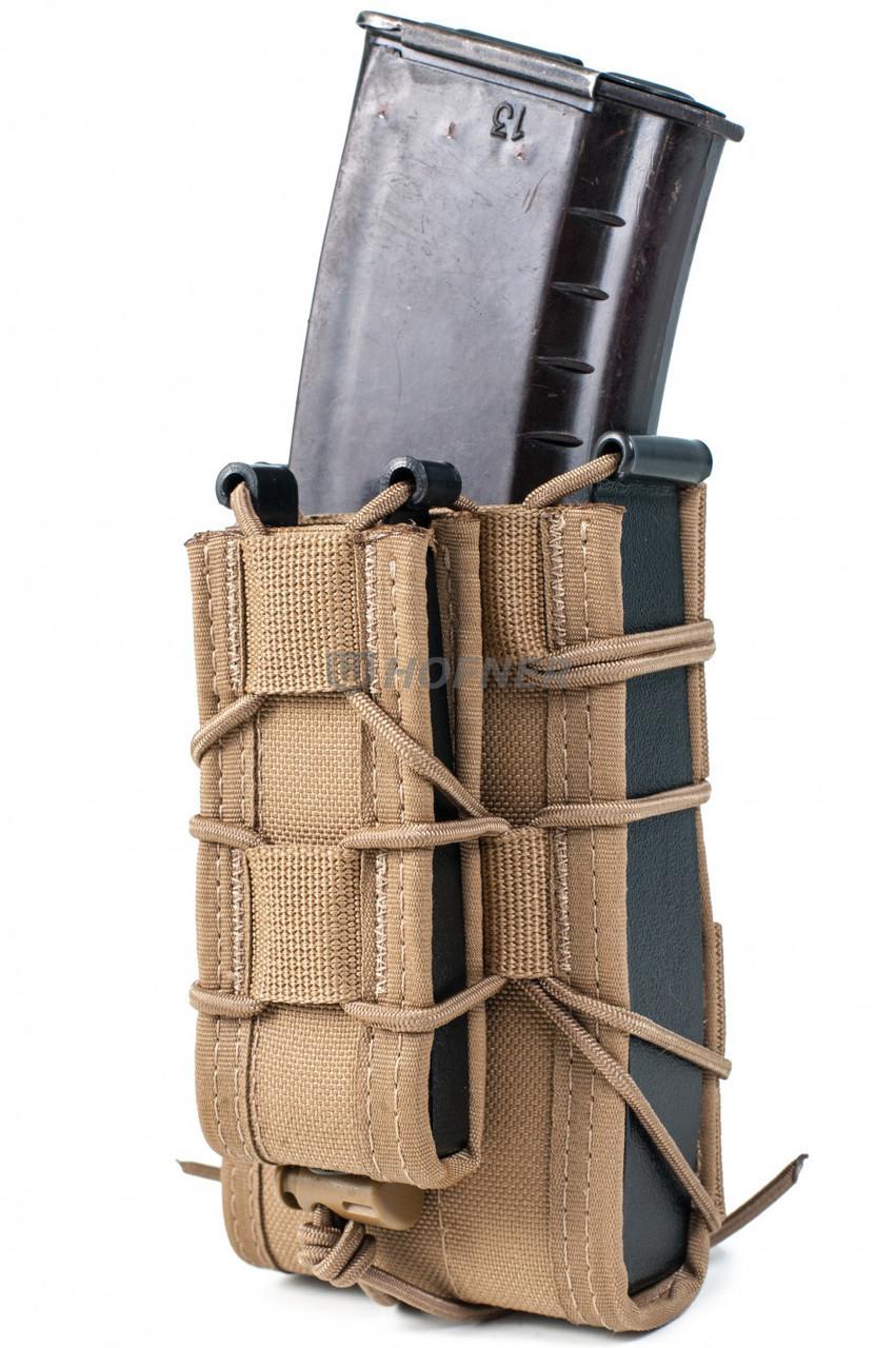 Подсумок двойной под АК и пистолетный магазин Mil-spec COYOTE от Hofner