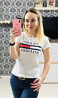 Женская футболка Tommy Hilfiger 100% котон. , фото 1