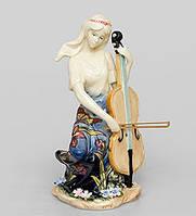 """Фарфоровая cтатуэтка девушка """"Волшебная виолончель"""" (Pavone) JP-37/ 9"""