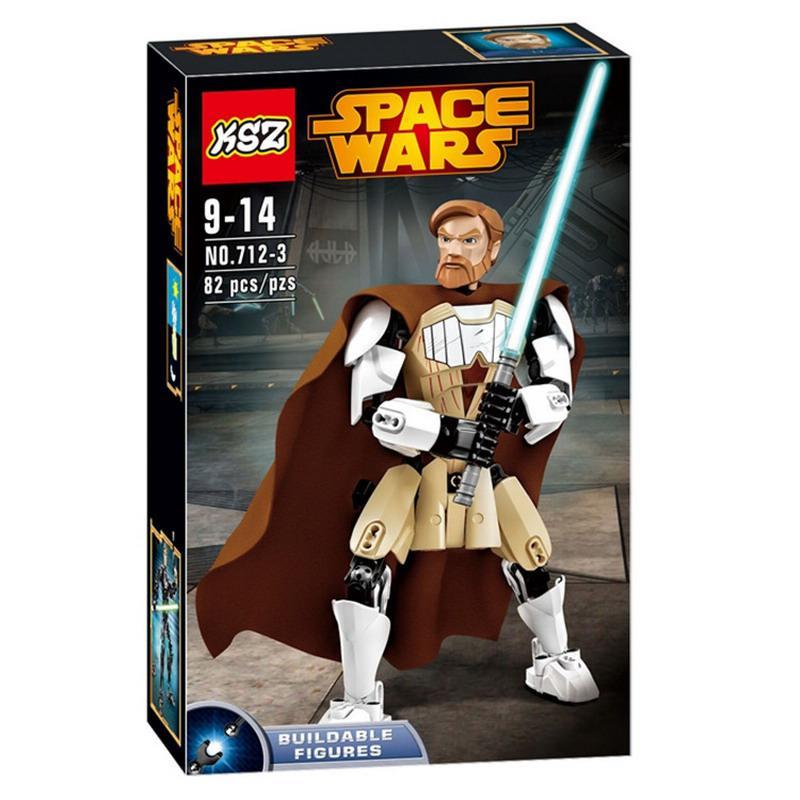Конструктор Ksz 712-3 Звездные Войны реплика LEGO Star Wars Оби-Ван Кеноби 82 детали