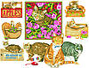 """Схема для вышивки крестом на канве Аида №16 """"Панно - Кошки"""""""