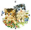 """Схема для вышивки крестом на канве Аида №16 """"Часы - котята"""""""