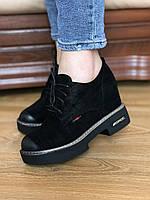Женские туфли кожаные , женские туфли на шнуровке,модные женские туфли