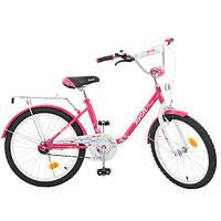 Детский двухколесный велосипед PROF1 Flower 20Д. L2082