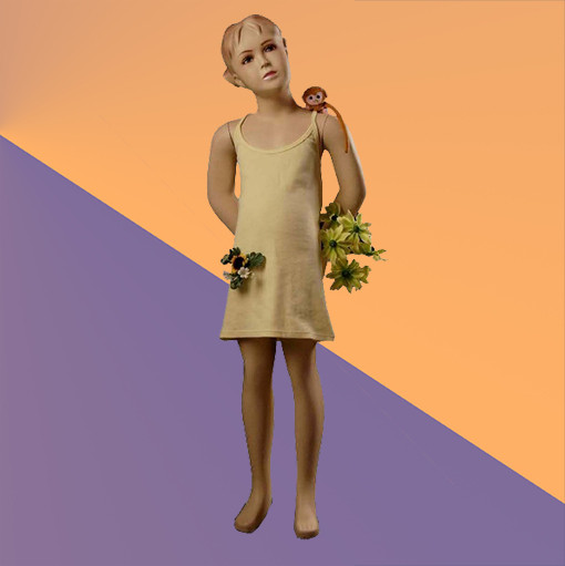 Манекен детский телесный - девочка (стекловолокно, 117 см)