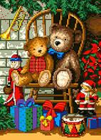 """Схема для вышивки крестом на канве Аида №16 """"Рождественские подарки"""""""