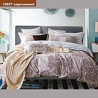 Двуспальный комплект постельного белья VILUTA ранфорс-платинум 12657 коричневый