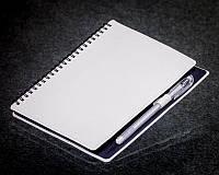 Блокнот на пружине белый с черными страницами ( Ежедневник черная бумага )