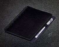 Черный Блокнот на пружине с черными листами ( Ежедневник черные страницы )
