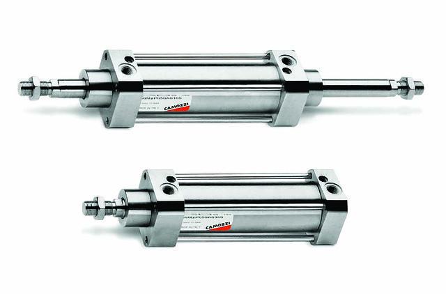 Пневмоцилиндры Camozzi из нержавеющей стали Серия 90 ISO 15552