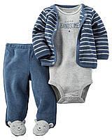 Детский махровый набор из трех вещей Картерс для малышей, 61,67,72 см