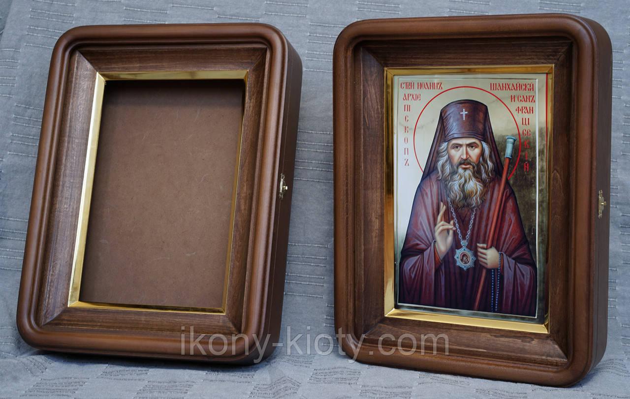 Киот для литографии Святого  Иоанна Шанхайского.
