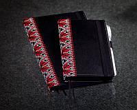 Блокнот вышиванка с черной бумагой Мини ( Ежедневник черные страницы )