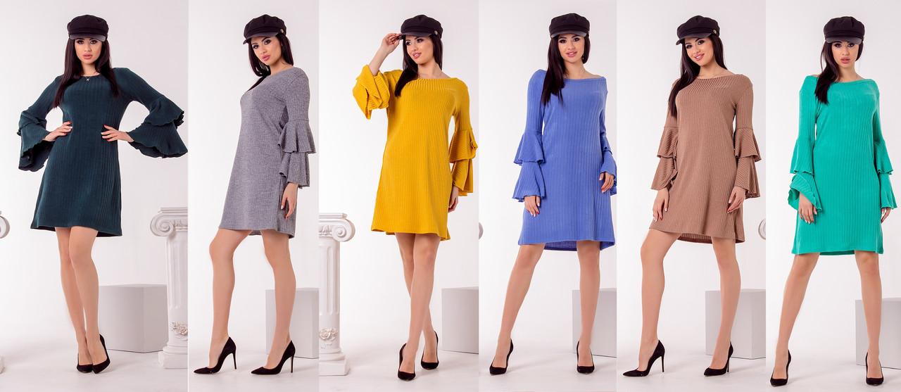 Стильное платье 3691