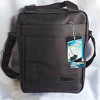 Тканевая коричневая мужская сумка, фото 1