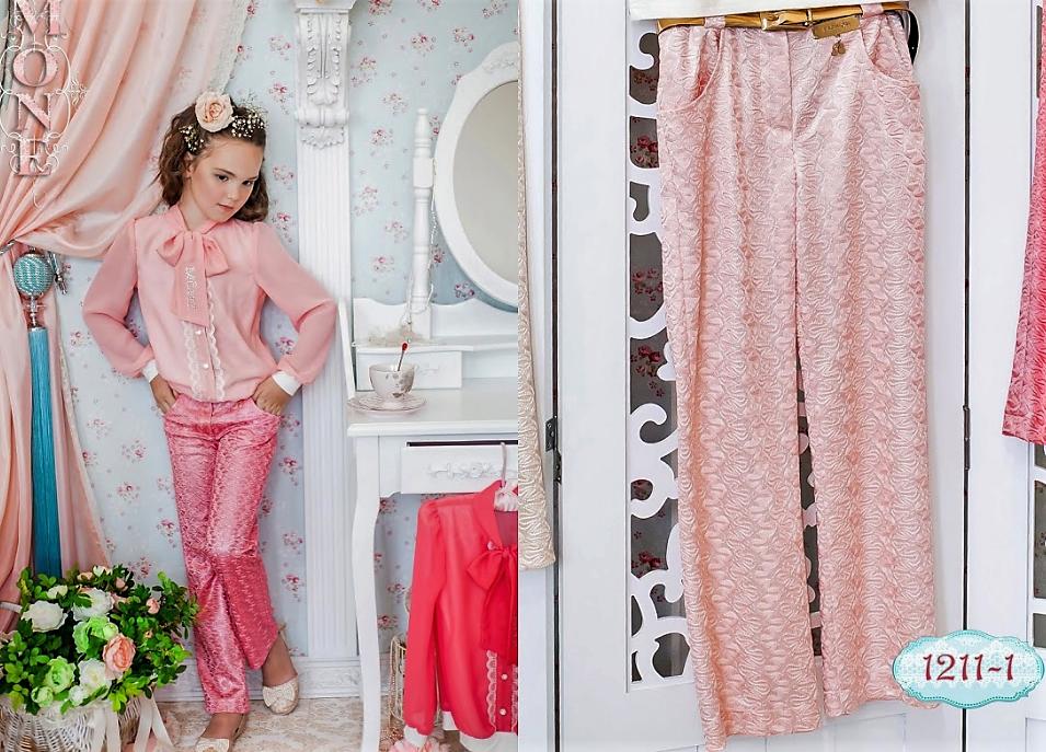 Детская одежда, брюки для девочки (персик) ТМ МОНЕ р-р 110,116