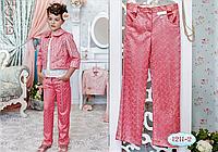 Детская одежда, брюки для девочки (корал) ТМ МОНЕ р-р 116