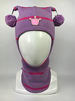 Весенняя детская шапка-шлем для девочки 1530-20