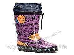 0f693daaf Обувь для непогоды оптом в Одессе. Детские резиновые сапоги бренда Леопард  для девочек (рр