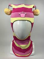 Детская шапка-шлем весна-осень для девочки 1530-28