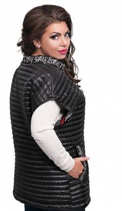 Оригинальная женская жилетка без капюшона, фото 2